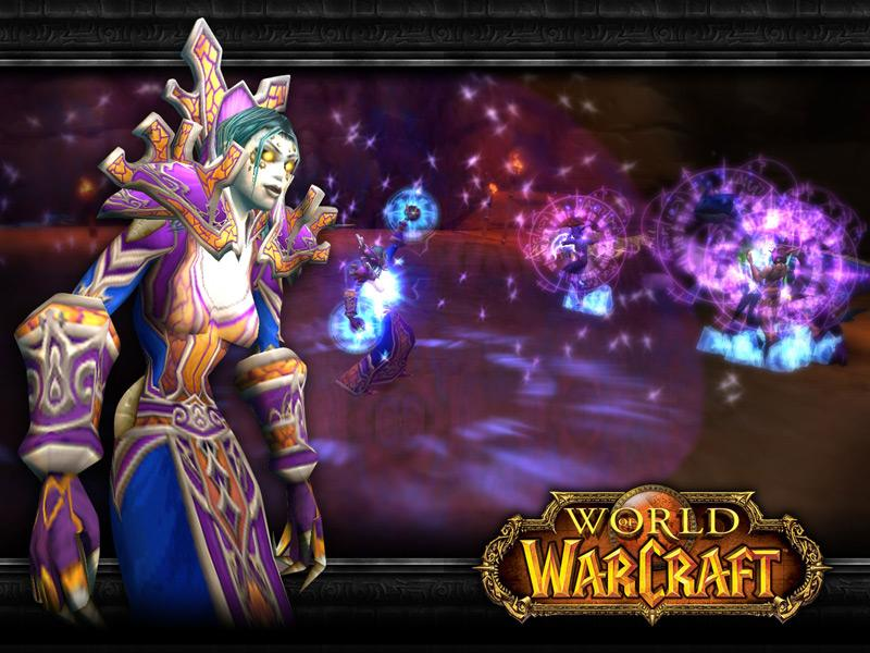 Fond d'écran d'un mage mort-vivant (world of Warcraft)