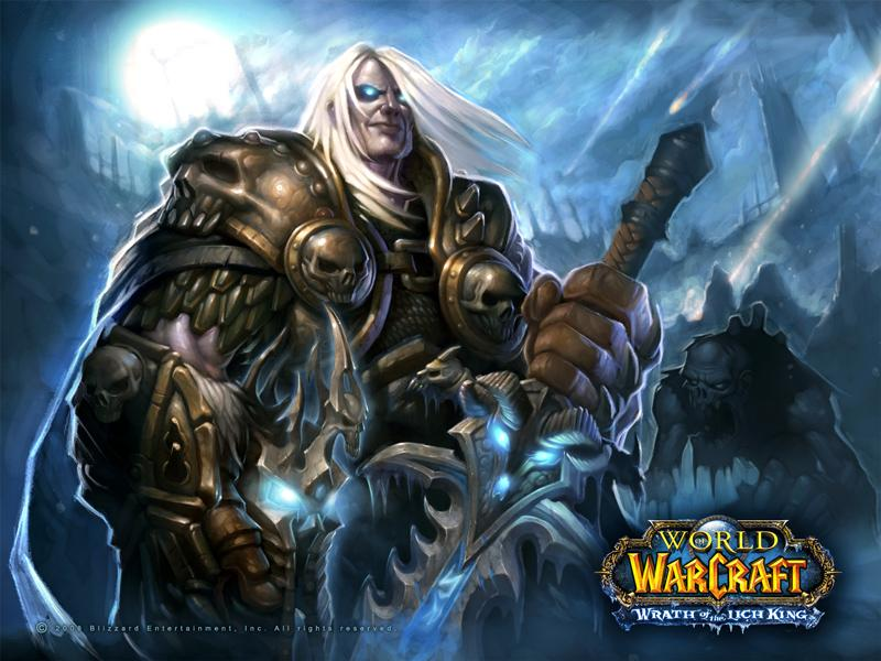 Fond d'écran d'un chevalier de la mort (World of Warcraft)