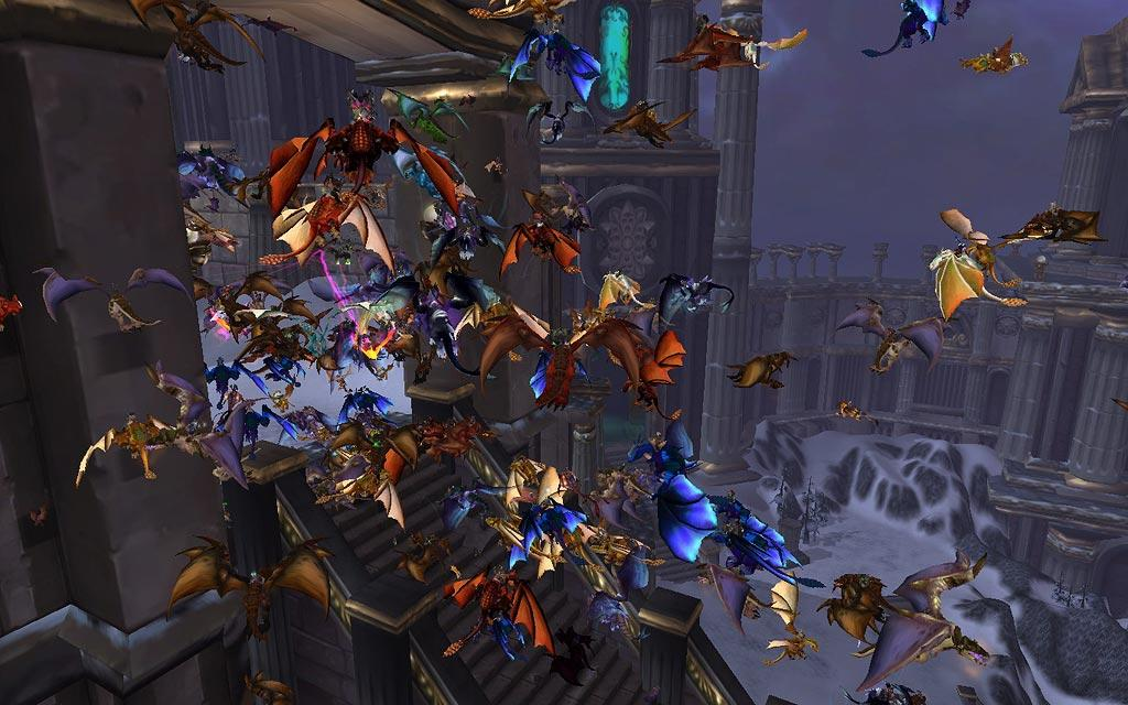 Screenshot of the day avec un rassemblement de drake (world of warcraft)