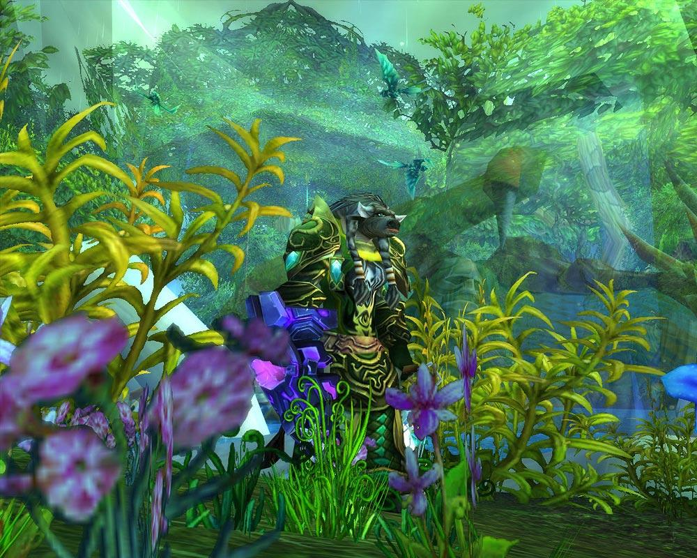 Screenshot of the day d'un tauren à Feralas (world of warcraft)