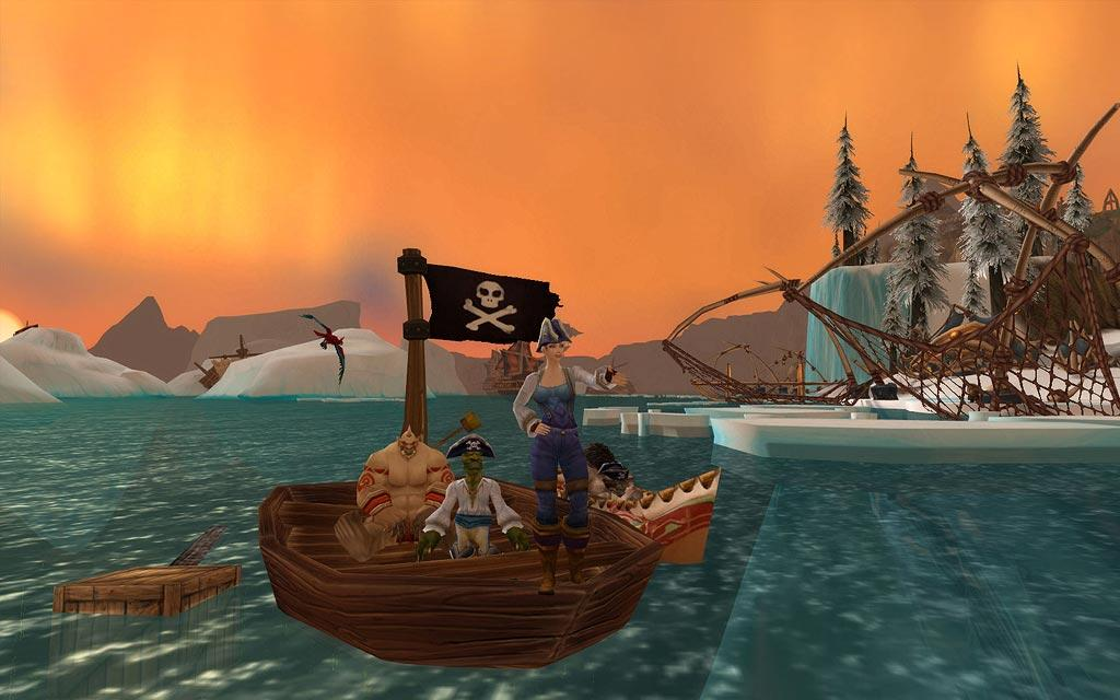 Screenshot of the day d'une humaine jouant au pirate (world of warcraft)