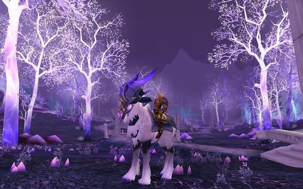 Screenshot of the day d'une elfe sur un talbuk (world of warcraft)