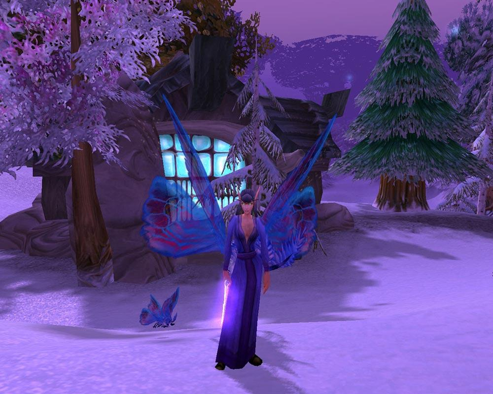 Screenshot of the day d'une elfe (world of warcraft)