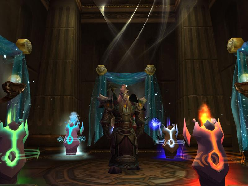 Capture d'un chaman draenei dans World of Warcraft (source : Screenshot du jour)