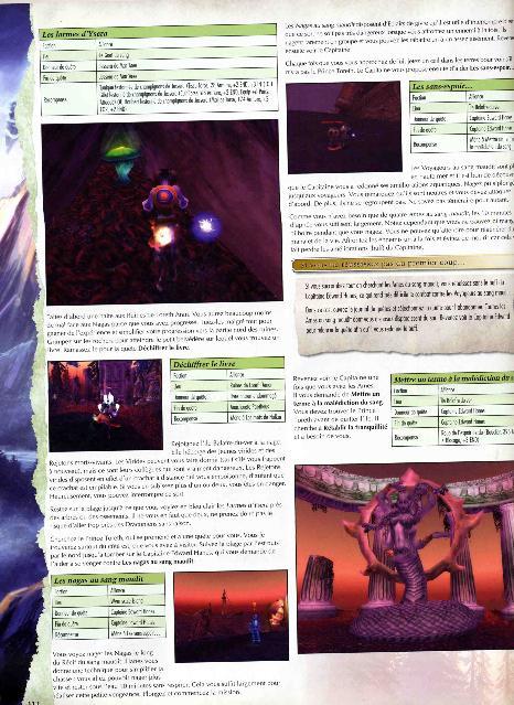Exemple de page décrivant le parcours d'un draenei
