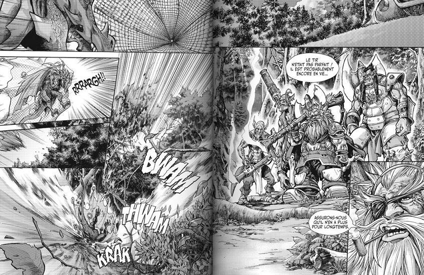 Premières pages du manga La chasse au dragon (trilogie du puits solaire)