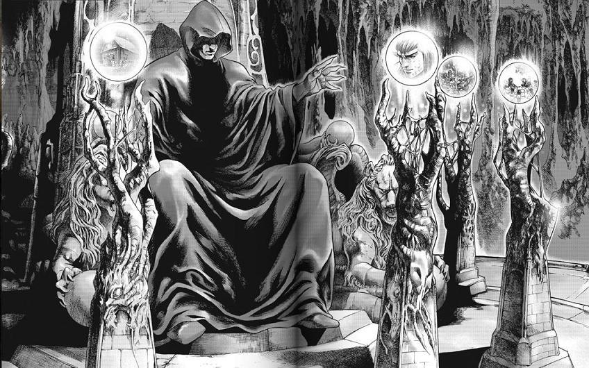 Arthas surveillant le monde de son trone