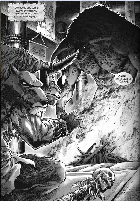 Capture du chapitre Tombéde Warcraft Legends volume 1