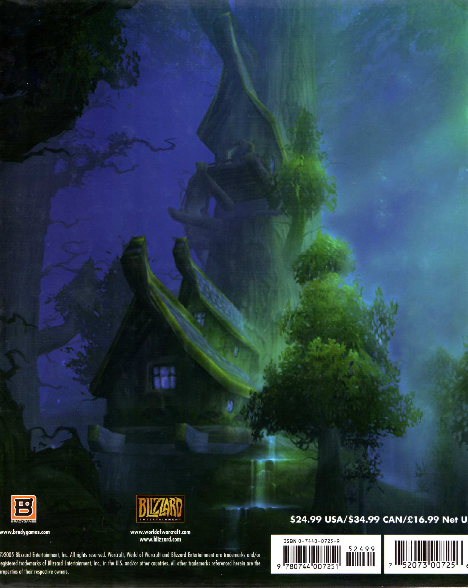 The Art of World of Warcraft (dos de la couverture de l'Art Book)
