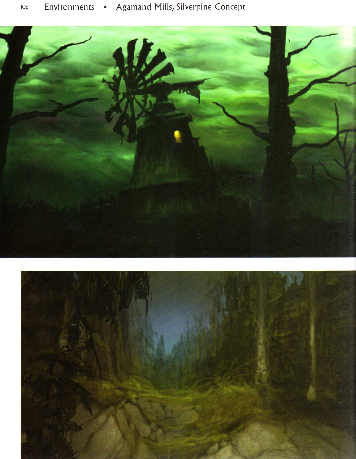 Page 106 de l'art book : The Art of World of Warcraft