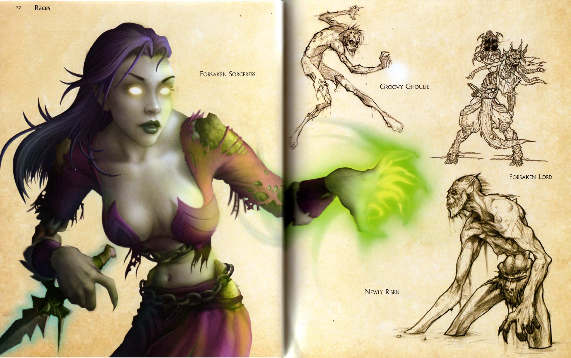 Page 32 et 33 de l'art book : The Art of World of Warcraft