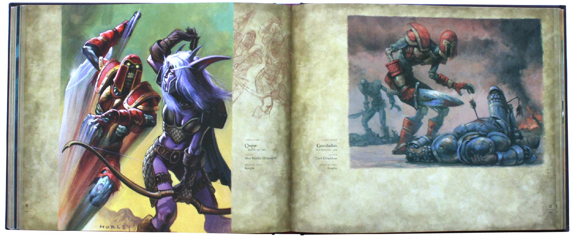 page 186 et 187 de l&#039;art book : The Art of the Trading Card Game (World of Wacraft)
