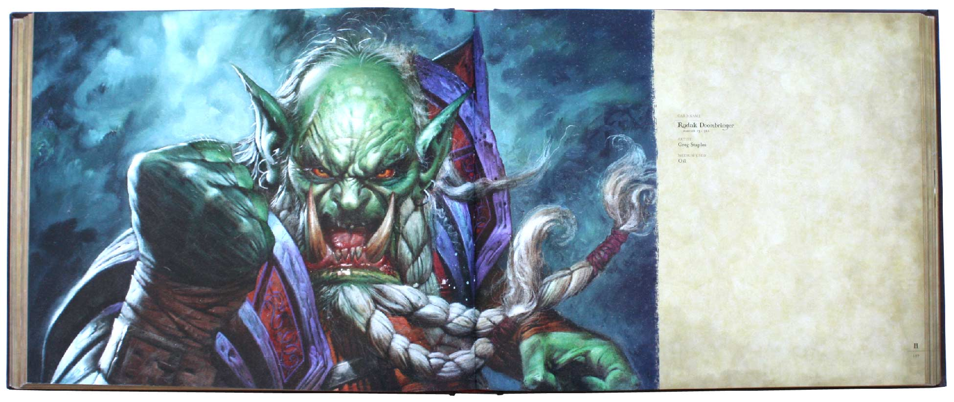 page 126 et 127 de l'art book : The Art of the Trading Card Game (World of Wacraft)