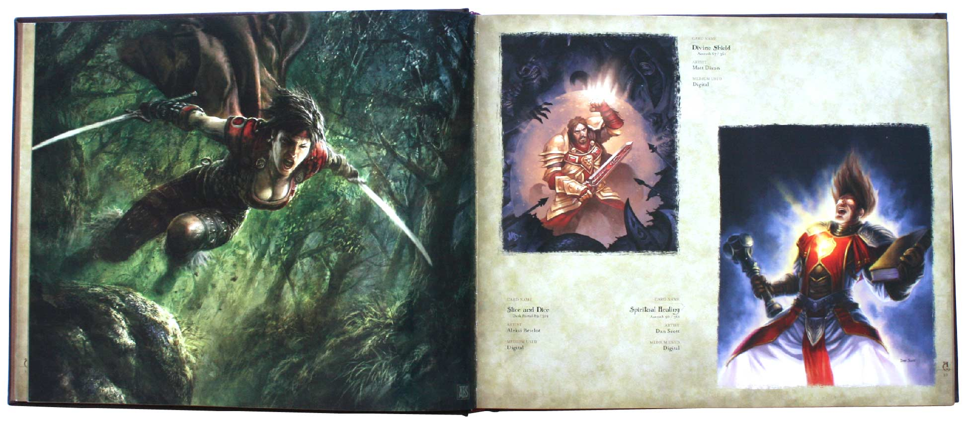 page 22 et 23 de l&#039;art book : The Art of the Trading Card Game (World of Wacraft)