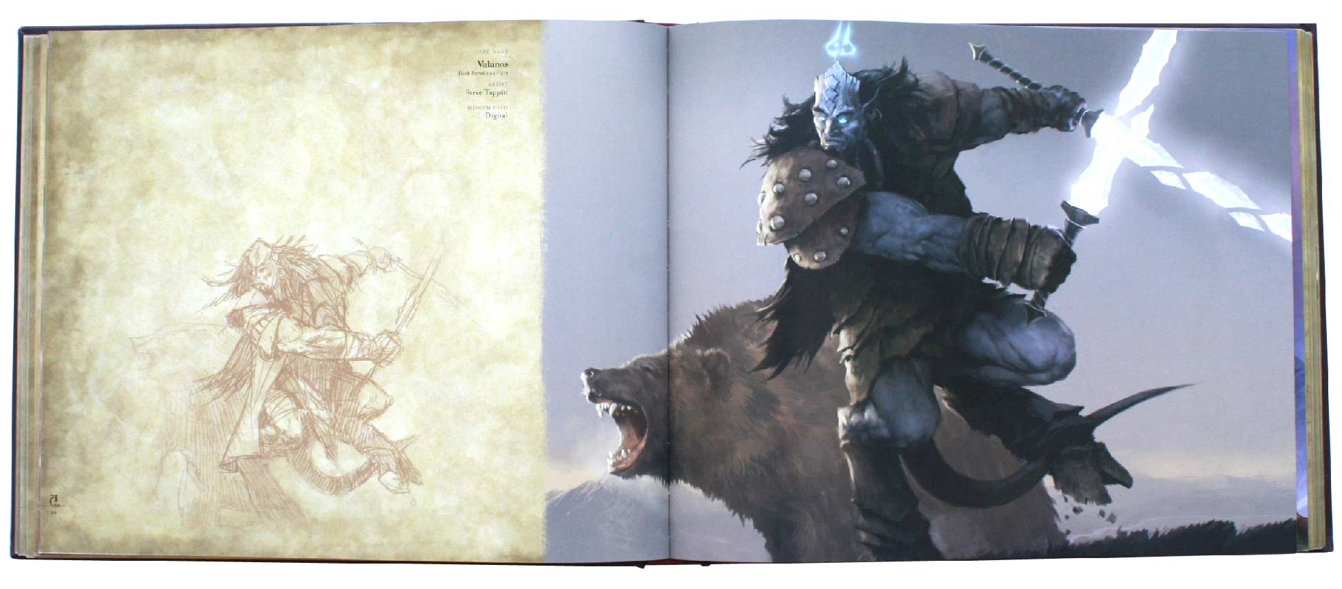 page 94 et 95 de l&#039;art book : The Art of the Trading Card Game (World of Wacraft)