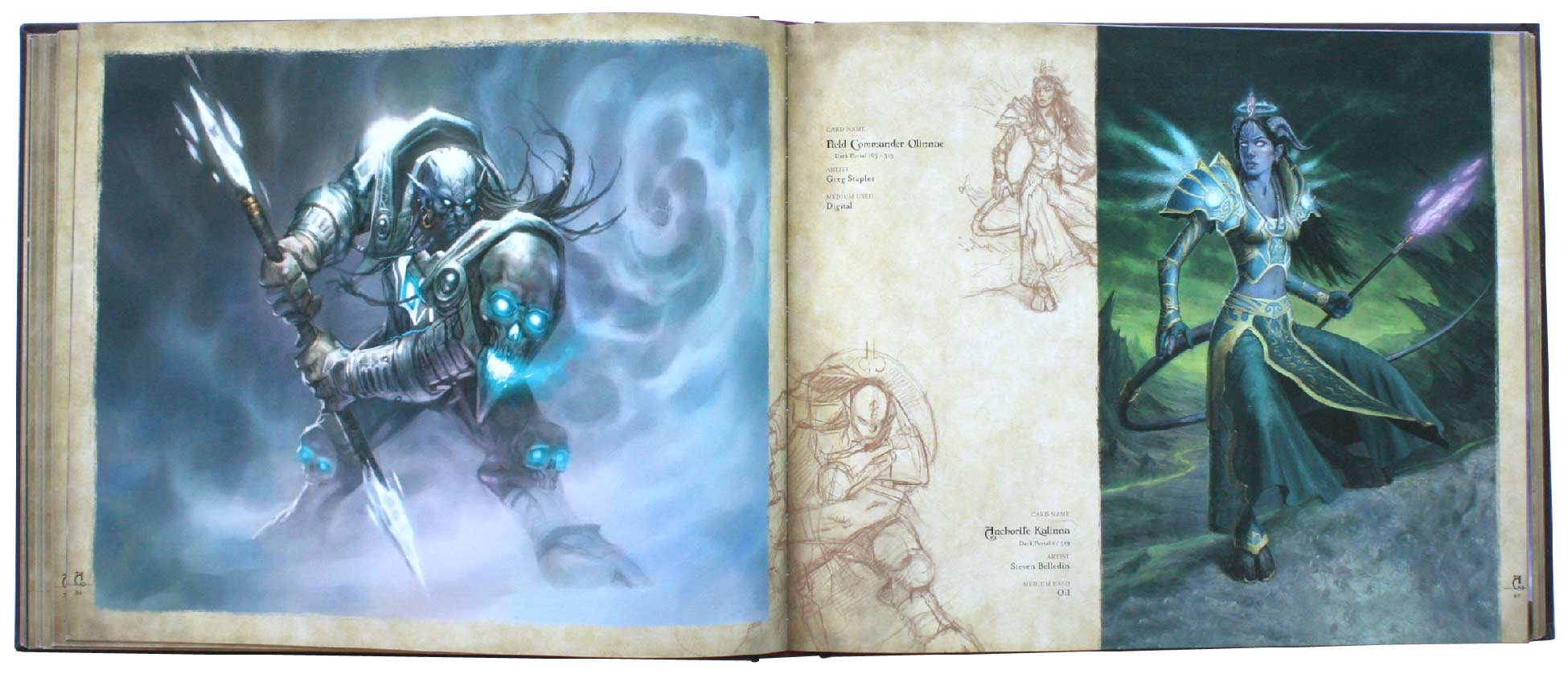 page 86 et 87 de l'art book : The Art of the Trading Card Game (World of Wacraft)