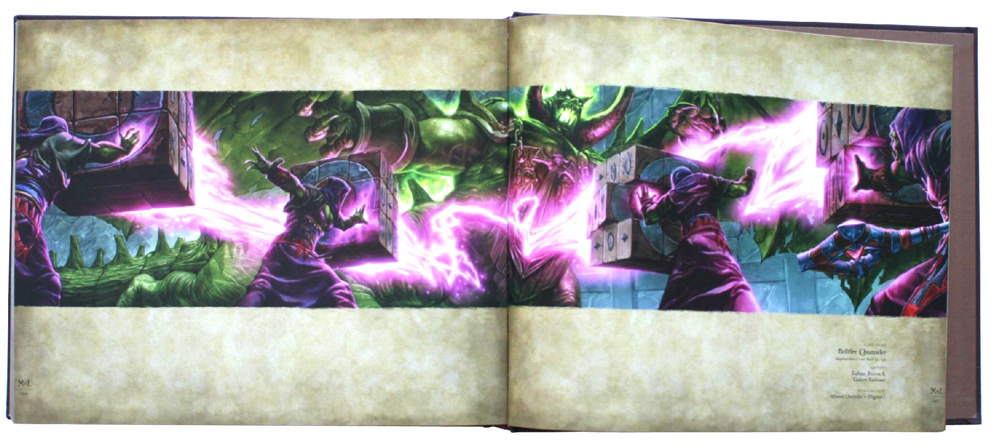 page 284 et 285 de l&#039;art book : The Art of the Trading Card Game (World of Wacraft)