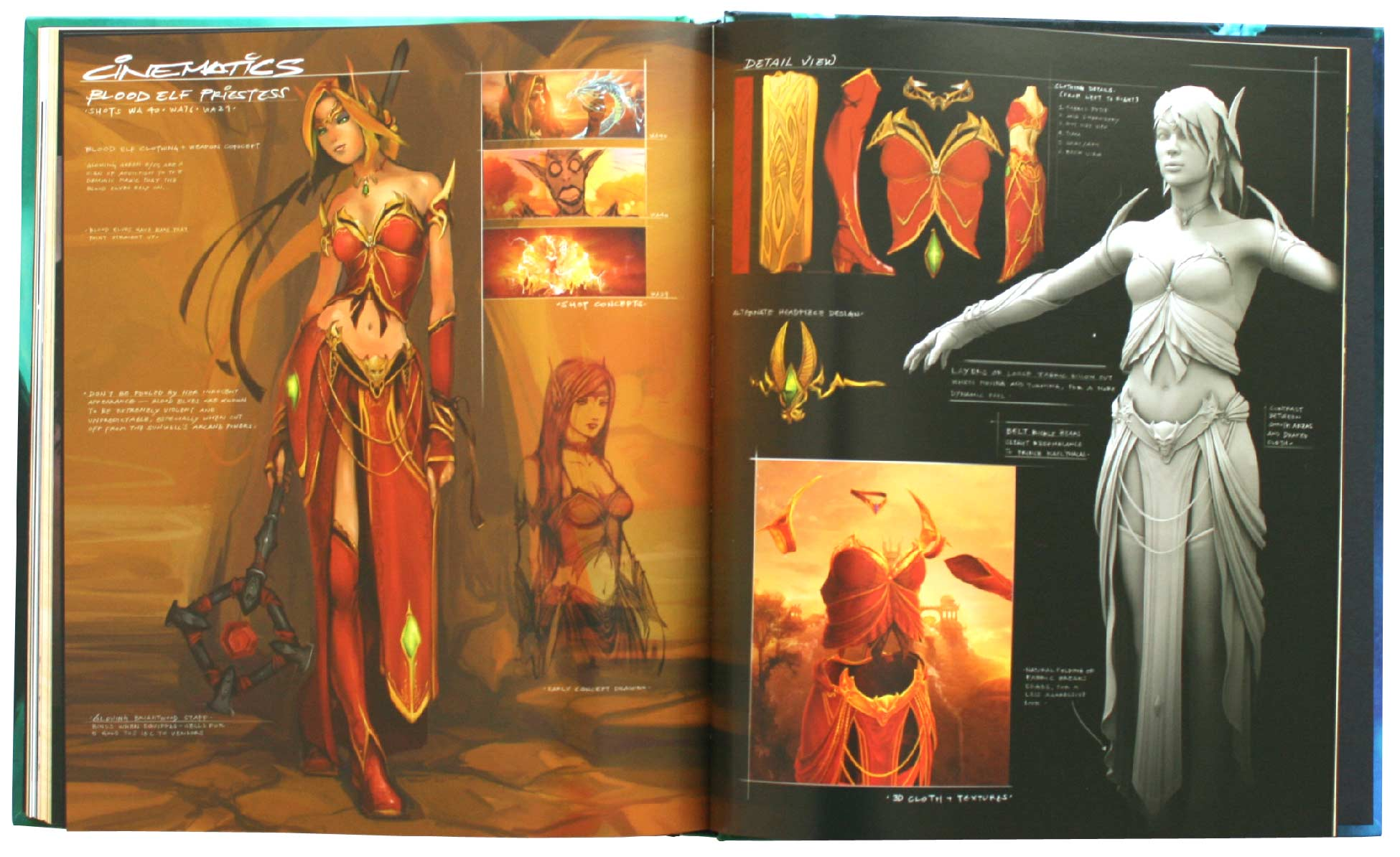 Page 188 et 189 de l'Art book : The Art of the Burning Crusade (World of Warcraft)