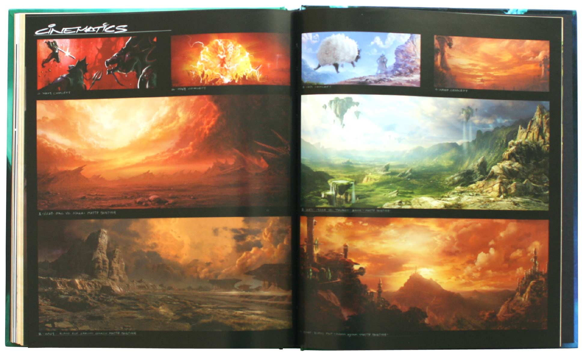 Page 186 et 187 de l'Art book : The Art of the Burning Crusade (World of Warcraft)