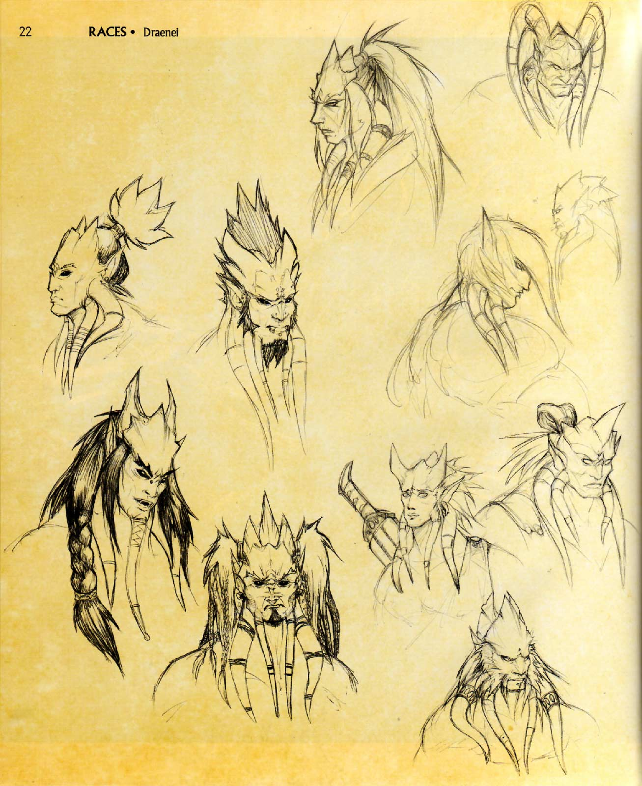 Page 22 de l'Art book : The Art of the Burning Crusade (World of Warcraft)