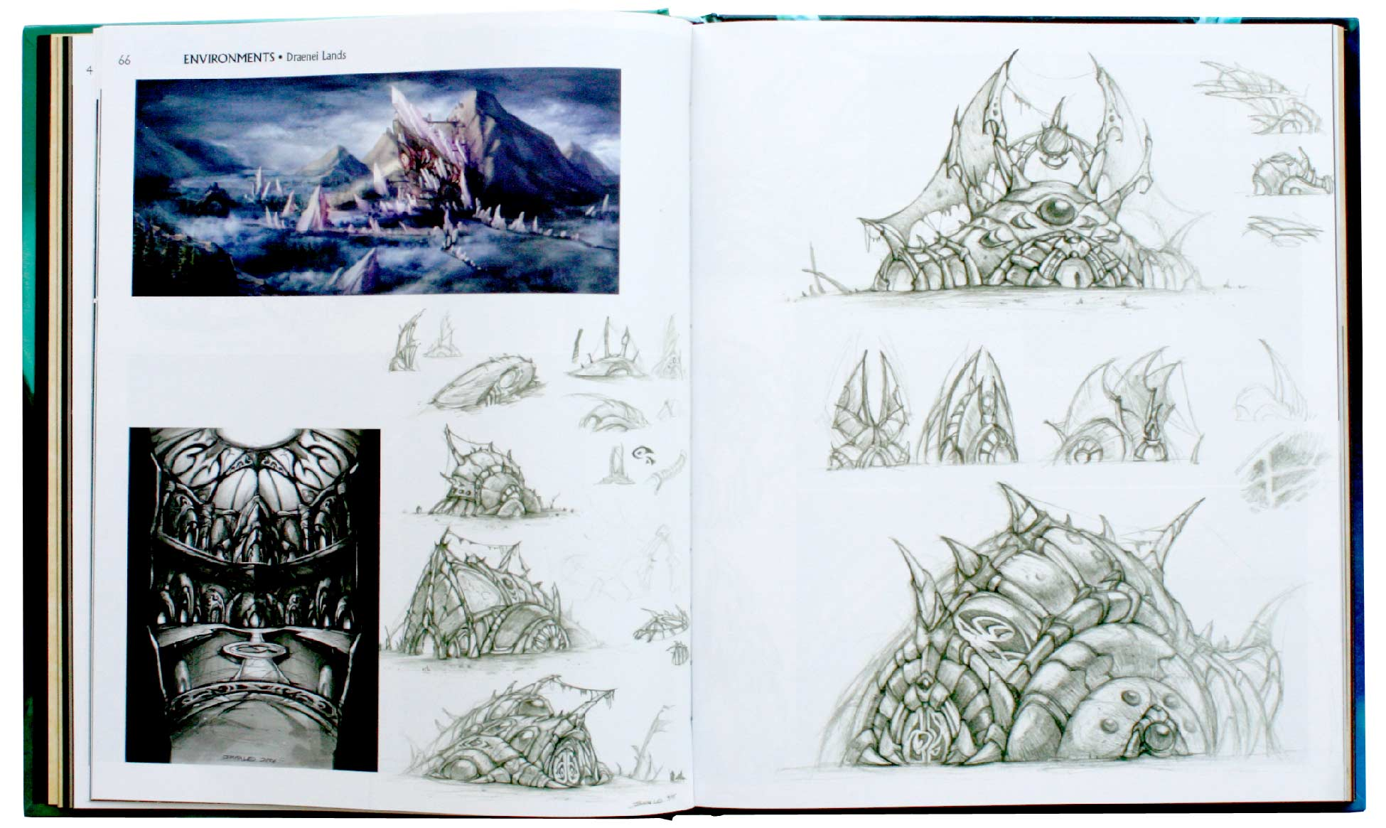 Page 66 et 67 de l'Art book : The Art of the Burning Crusade (World of Warcraft)