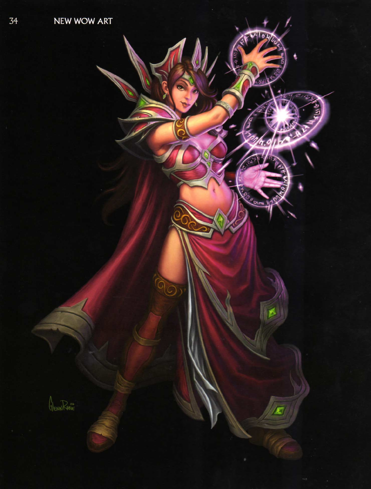 Page 34 de l'Art book : The Art of the Burning Crusade (World of Warcraft)