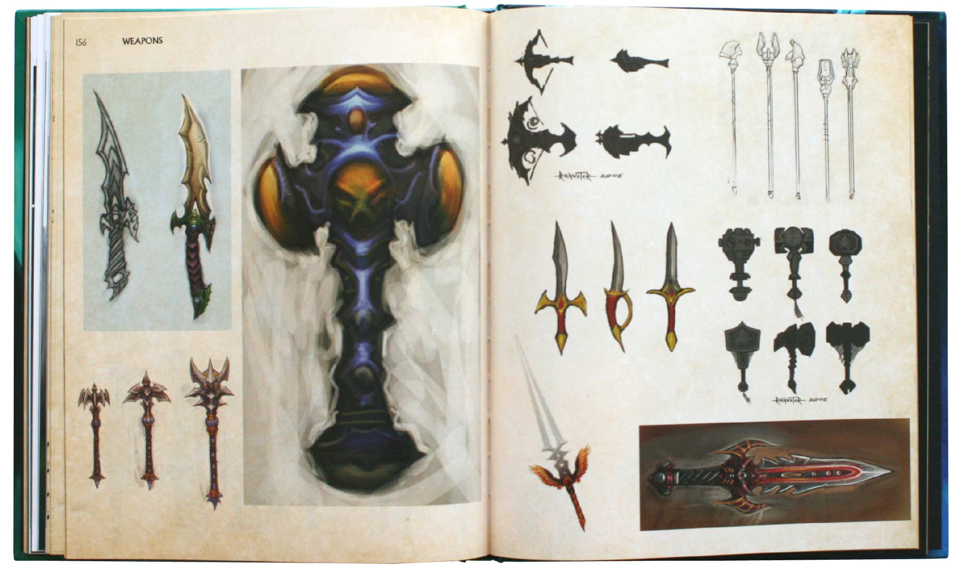 Page 156 et 157 de l'Art book : The Art of the Burning Crusade (World of Warcraft)