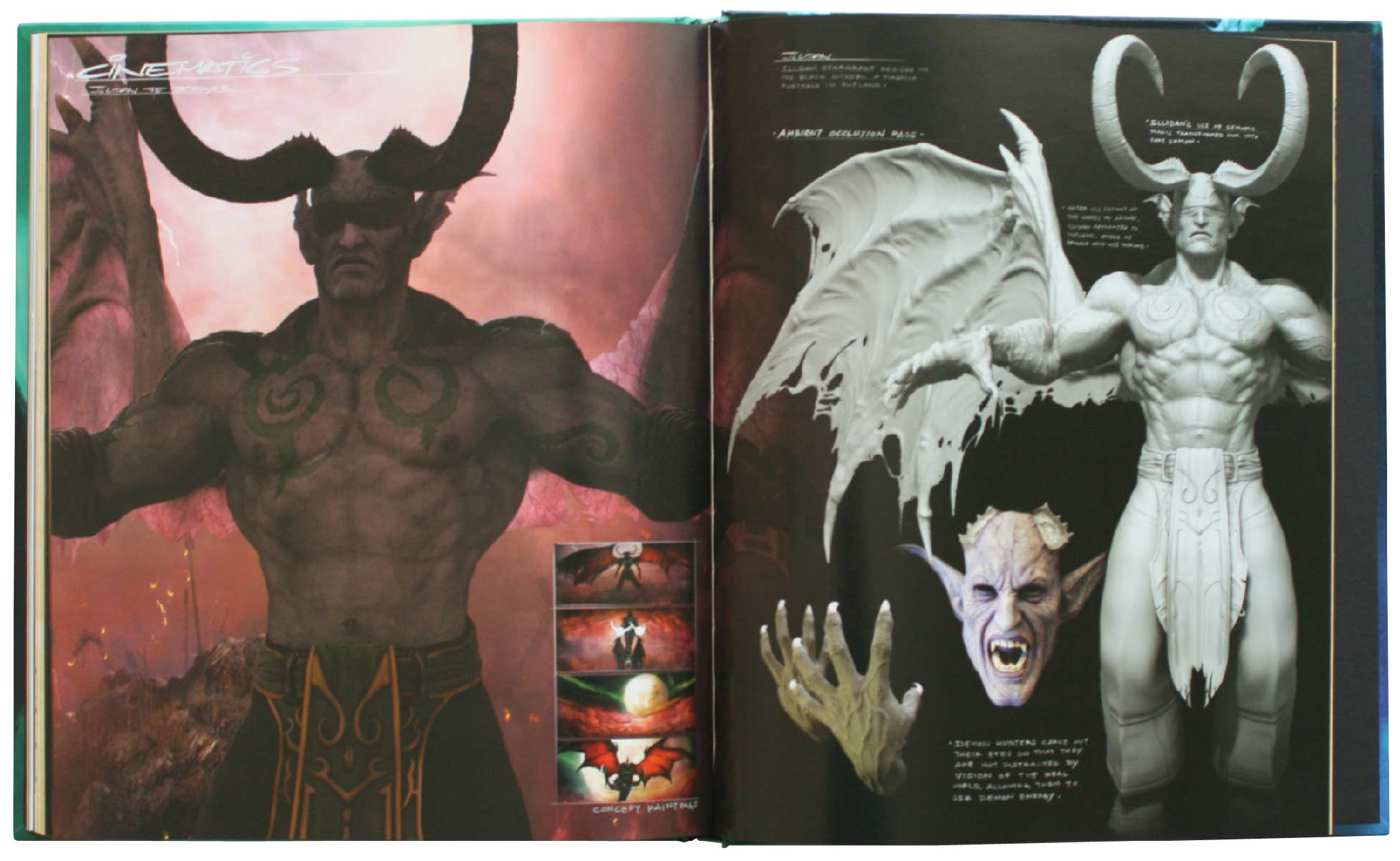Page 194 et 195 de l'Art book : The Art of the Burning Crusade (World of Warcraft)