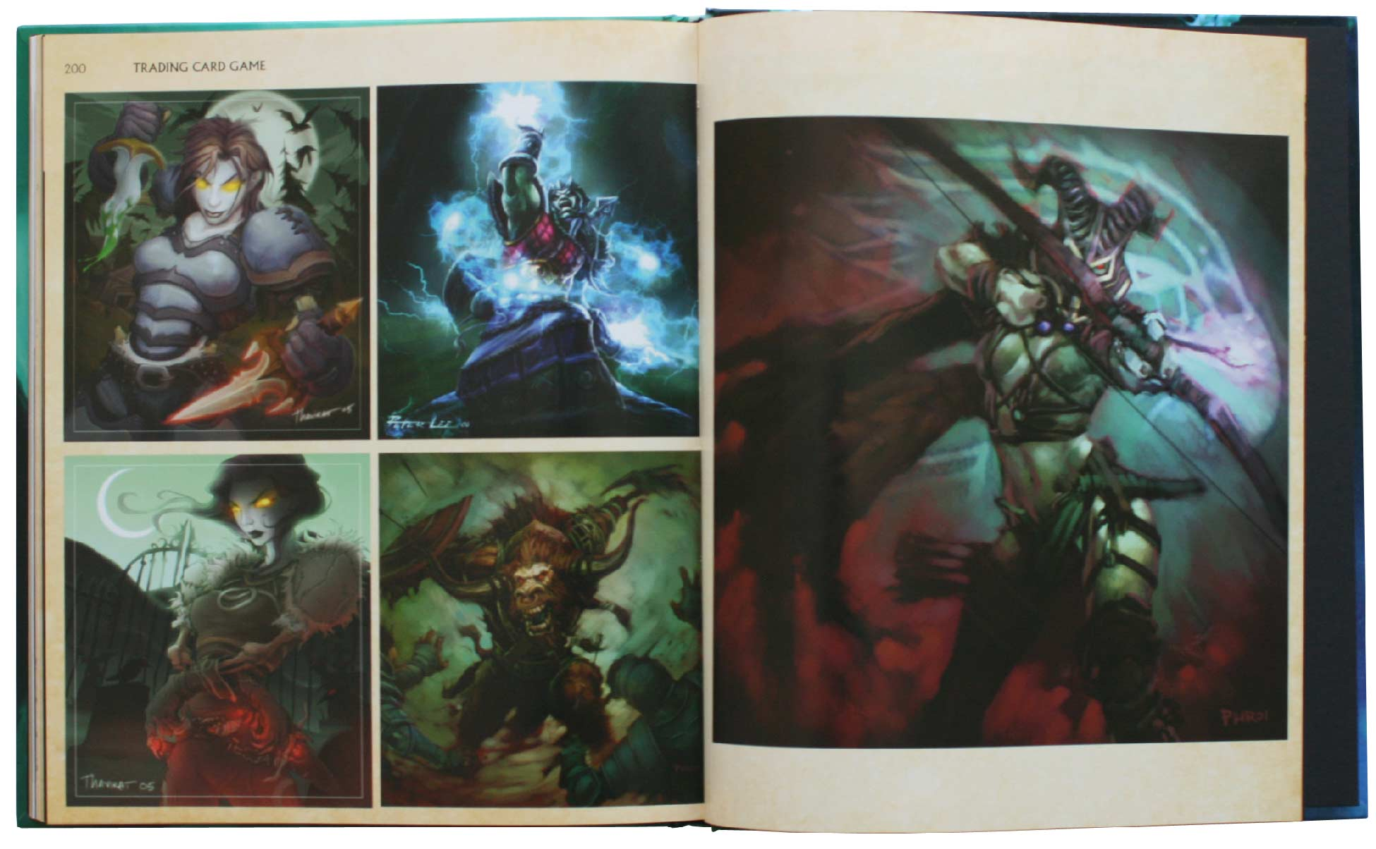 Page 200 et 201 de l'Art book : The Art of the Burning Crusade (World of Warcraft)
