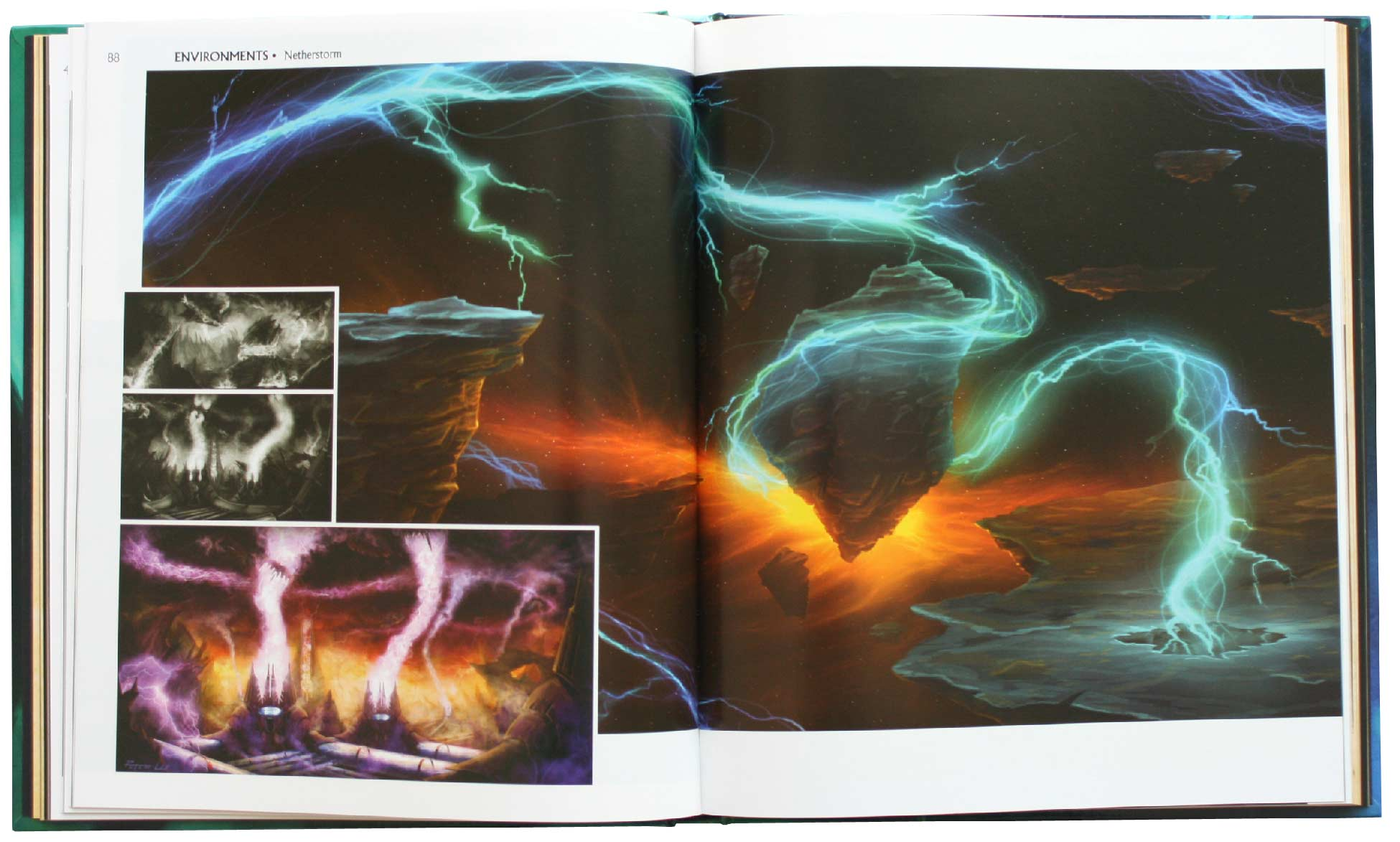 Page 88 et 89 de l'Art book : The Art of the Burning Crusade (World of Warcraft)