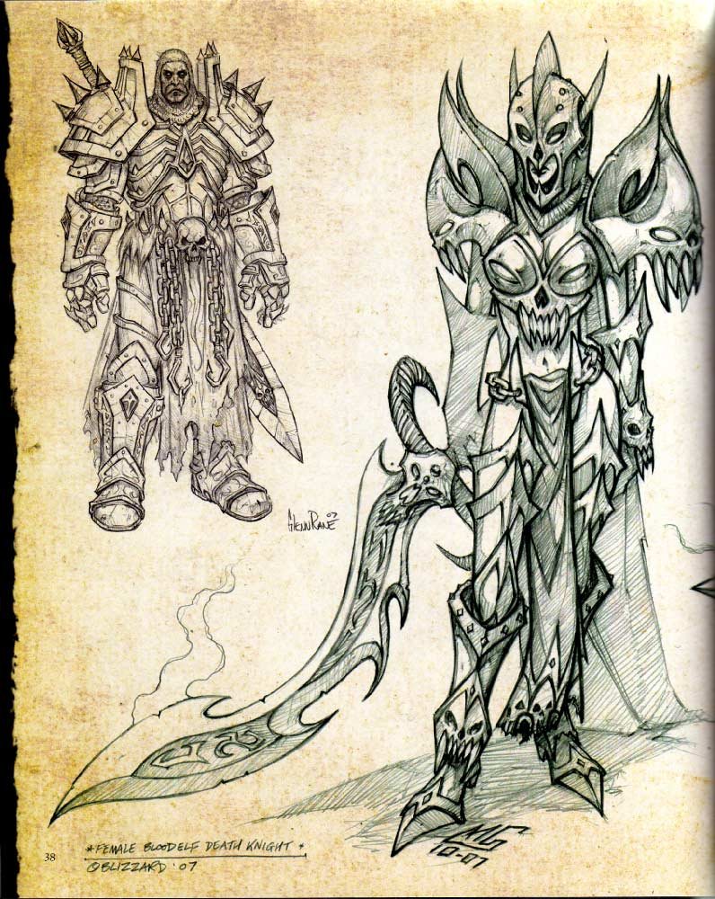 Page 38 de l'art book The Art of Warth of the Lich King (World of Warcraft)