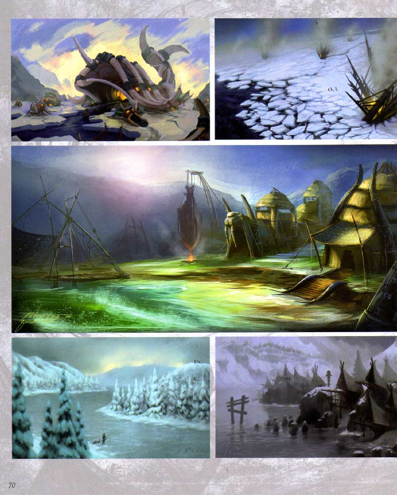 Page 70 de l'art book The Art of Warth of the Lich King (World of Warcraft)