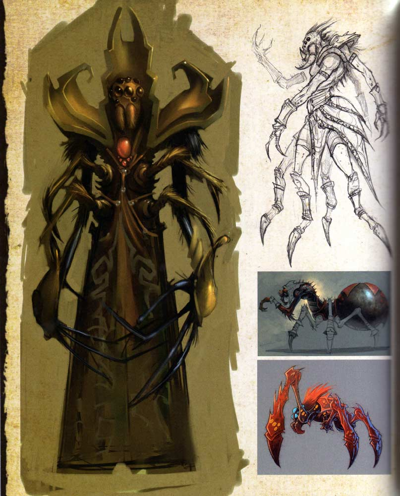 Page 92 de l'art book The Art of Warth of the Lich King (World of Warcraft)