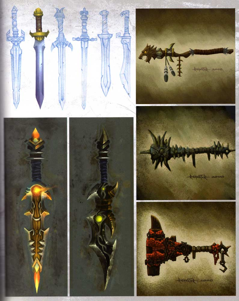 Page 67 de l&#039;art book The Art of Warth of the Lich King (World of Warcraft)