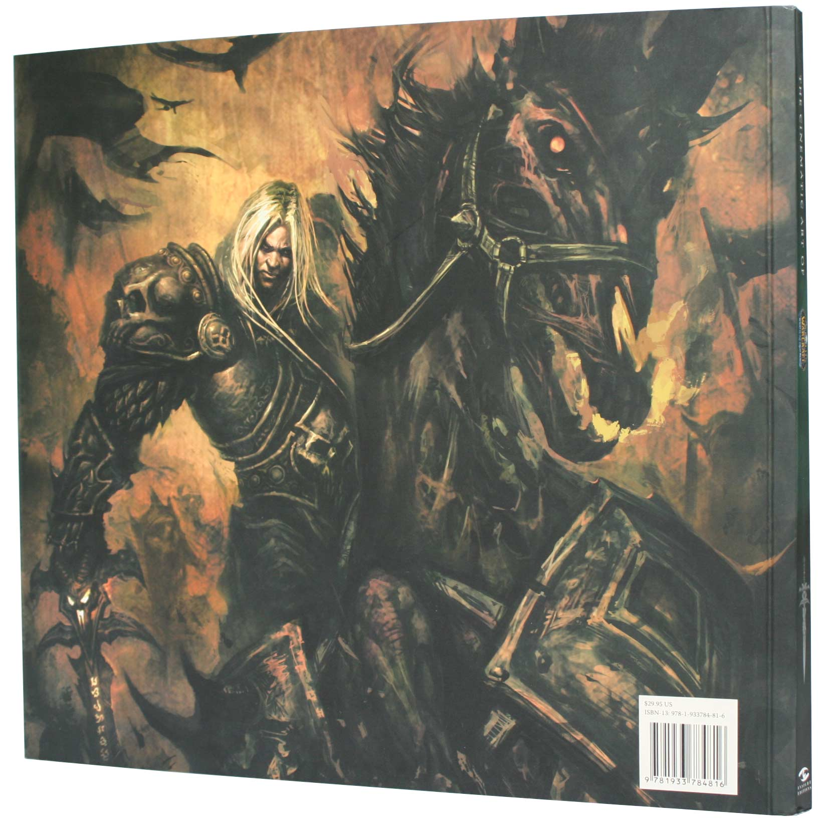 Dos de la couverture de l'art book The Cinematic Art of Warth of the Lich King (World of Warcraft)