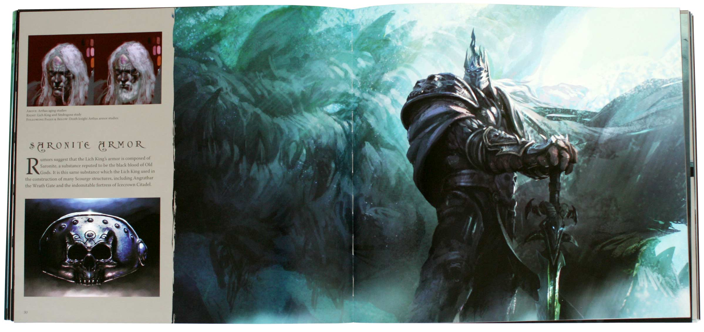 Page 30 de l'art book The Cinematic Art of Warth of the Lich King (World of Warcraft)