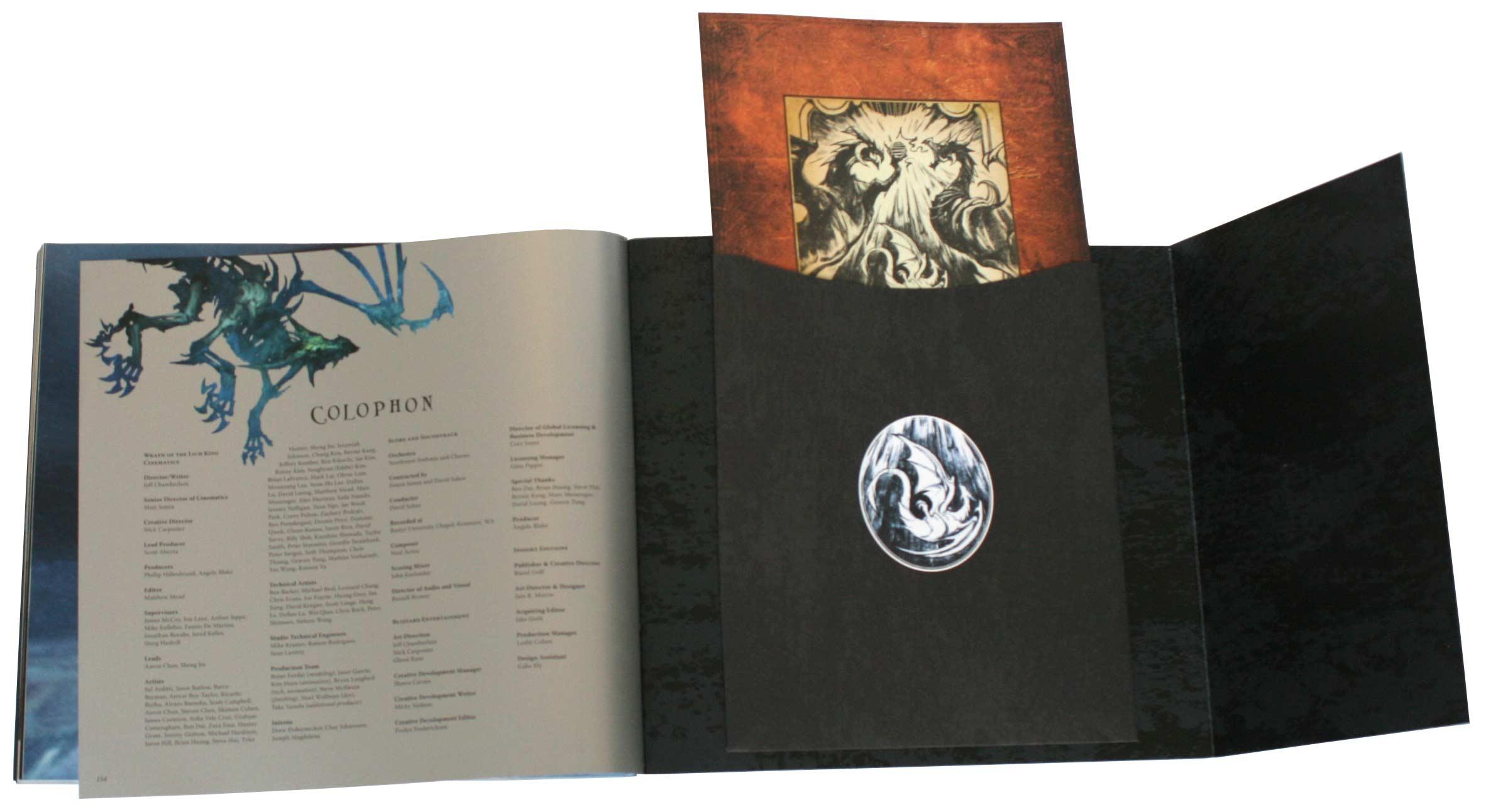Un carnet de croquis sur Sindragosa est rangé à la fin du livre