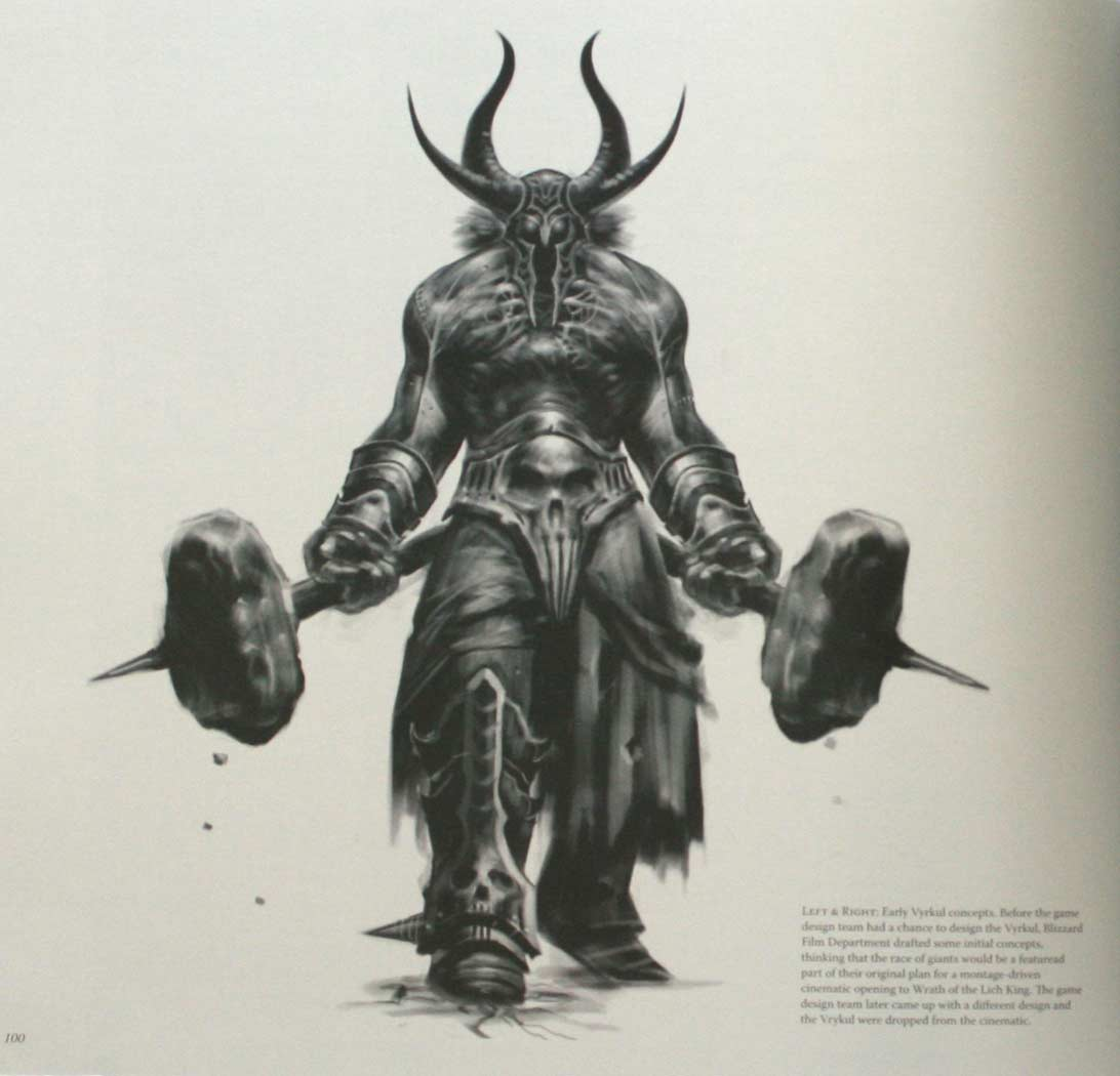 Page 100 de l'art book The Cinematic Art of Warth of the Lich King (World of Warcraft)