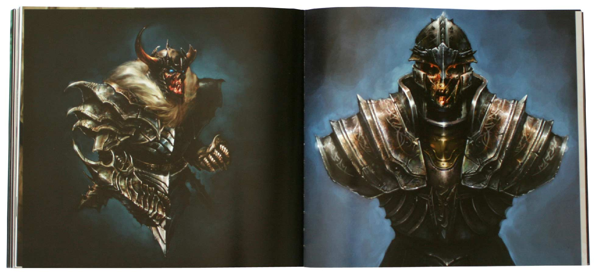Page 106 et 107 de l'art book The Cinematic Art of Warth of the Lich King (World of Warcraft)