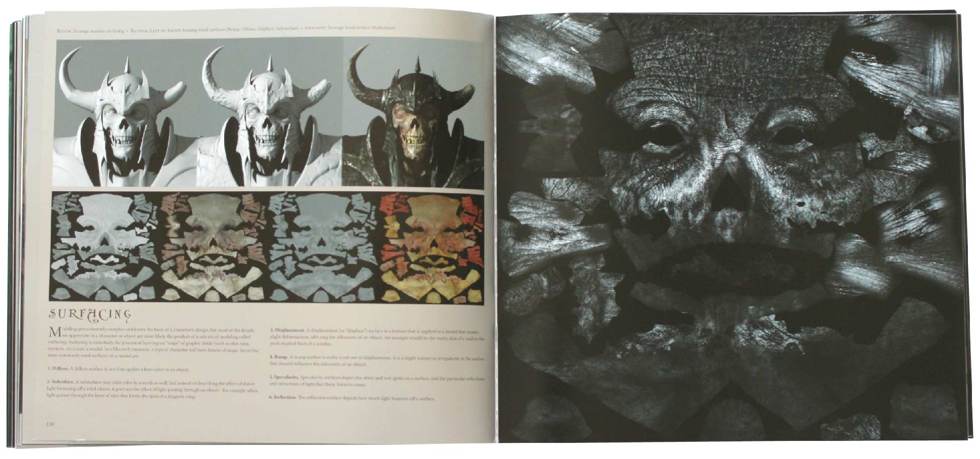 Page 120 et 121 de l'art book The Cinematic Art of Warth of the Lich King (World of Warcraft)