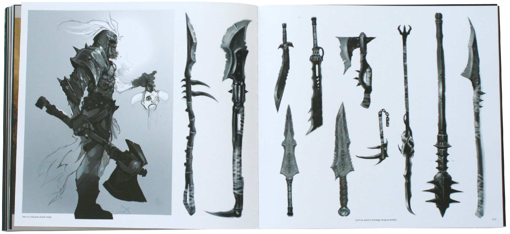 Page 155 et 156 de l'art book The Cinematic Art of Warth of the Lich King (World of Warcraft)