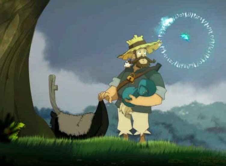 Une plume magique d Az explique à Alibert les origines de Yugo
