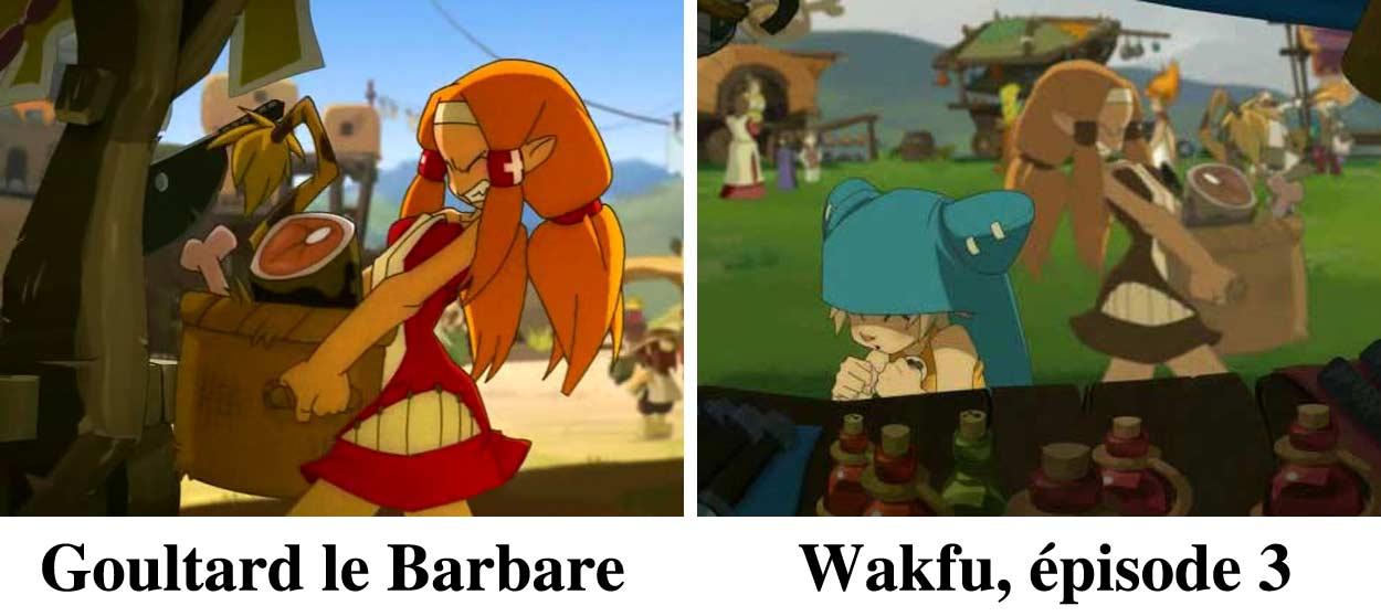 Cabotine, la mère de Goultard apparaît aussi de l'épisode 3 de Wakfu