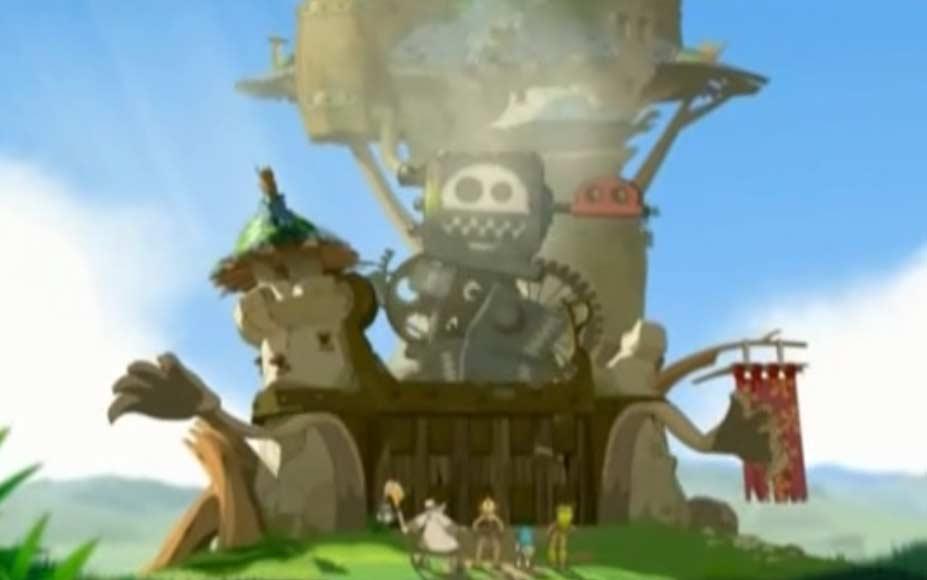 Le portail du château est en réalité un golem géant