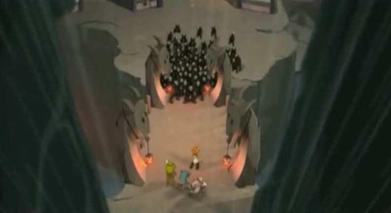 Les goules n'osent pas pénétrer dans le château de Vampyro