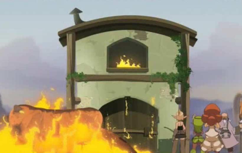 La réserve de farine brûle
