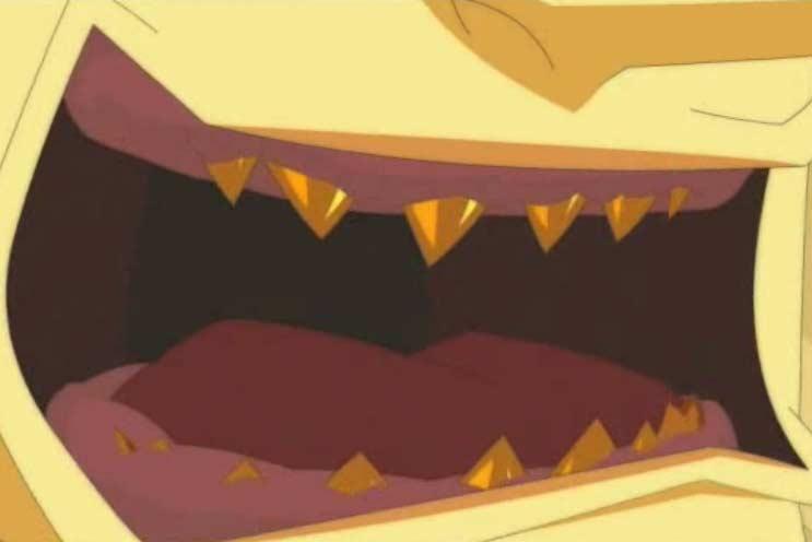 Les dents de Gonar repoussent, mais cette fois, elles sont en or