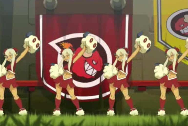 Les pom-pom girl des Bouftons Rouges