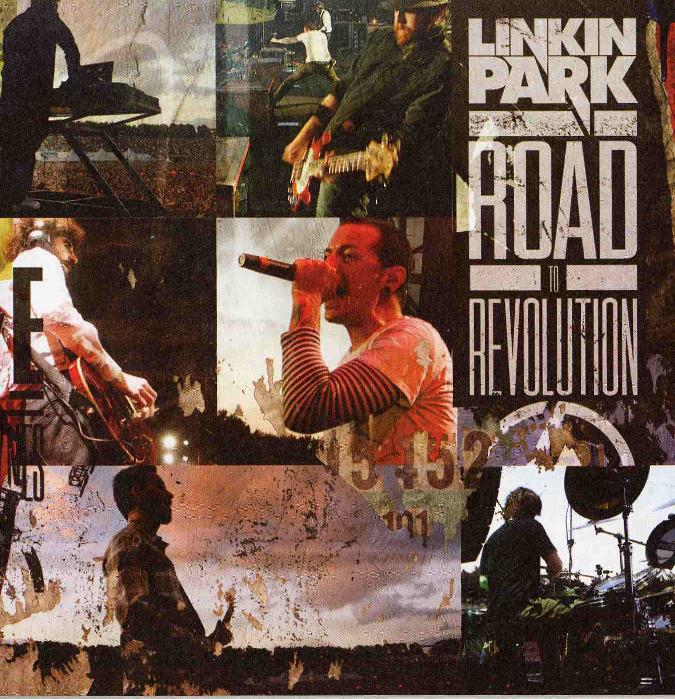 couverture du livret de l'album road to revolution de Linkin Pak
