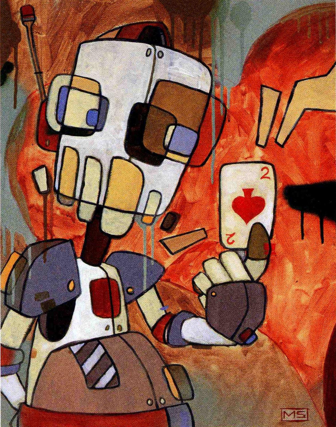 Hearts / Clubs, peinture tirée de Back de Diamonds, Spades, Hearts & Clubs' par Mike Shinoda